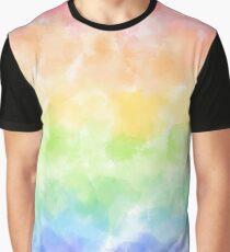 Rainbow Watercolor Graphic T-Shirt