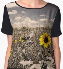 Sunflowers, Whispers of Nature Chiffon Top