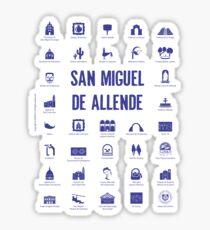 San Miguel de Allende, Mexico (blue ink) Sticker