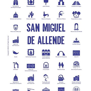 San Miguel de Allende, Mexico (blue ink) by AAAlves