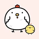 Cute chick and chicken by peppermintpopuk