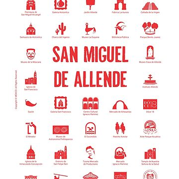San Miguel de Allende, Mexico (red ink) by AAAlves
