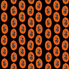 Papaya fruit tropical nature vacation pattern healthy foods vegan gifts by Andrea Lauren