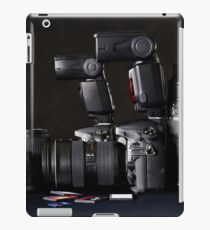 Set of photographs. DSLR camera, lens and flash iPad Case/Skin