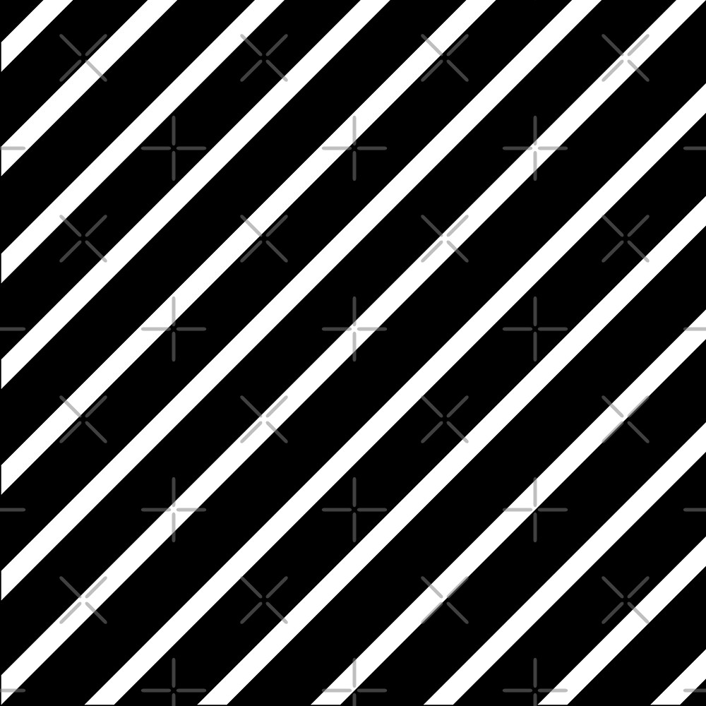 Beautiful Cushions/Stripe/ Black White by ozcushionstoo