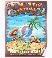 Grateful Dead Summer Company Playing in The Sand Mexico Poster