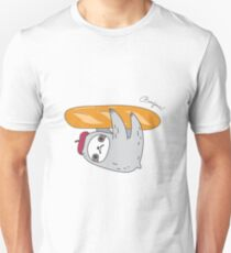 French sloth with baguette Unisex T-Shirt