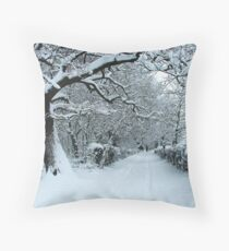 One Track Throw Pillow