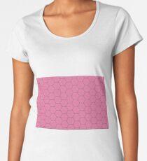 Pink Honeycomb Women's Premium T-Shirt