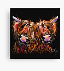 HIGHLAND COWS 'THE LoVELiES' By Shirley MacArthur Canvas Print