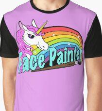 Face painter unicorn and rainbow Graphic T-Shirt