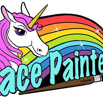 Face painter unicorn and rainbow by Cheezwiz