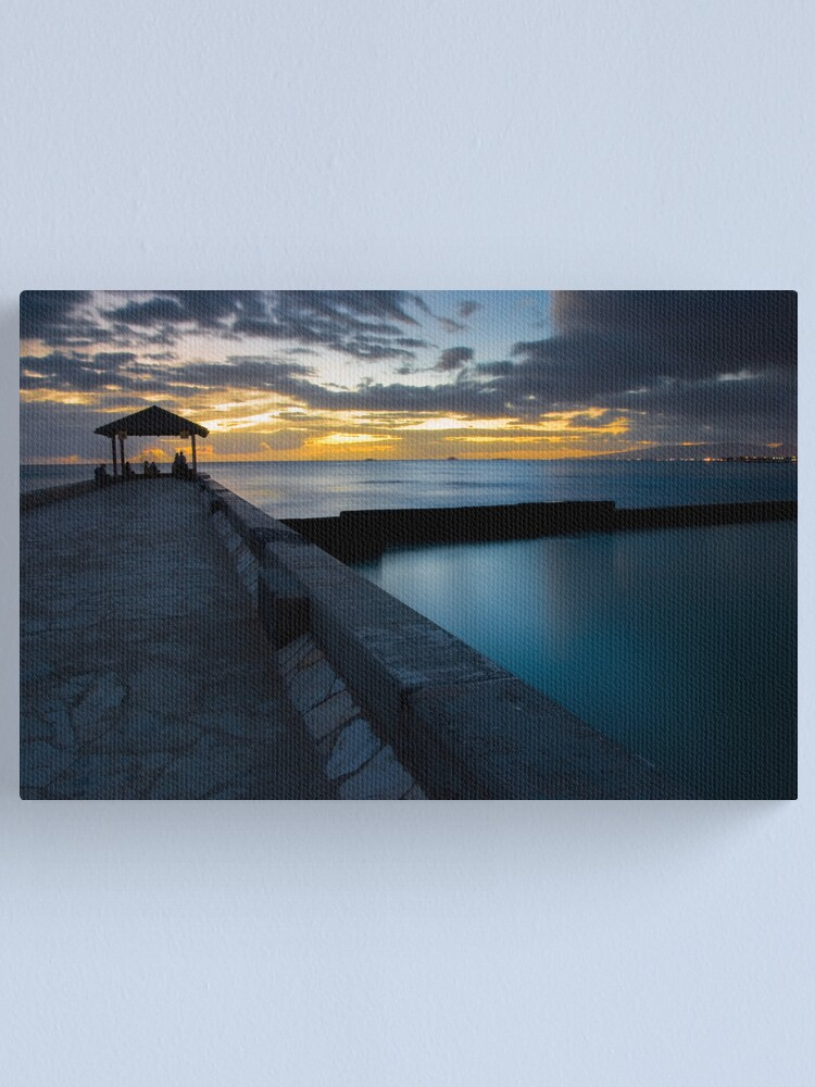 Alternate view of The Shallow Blue Canvas Print