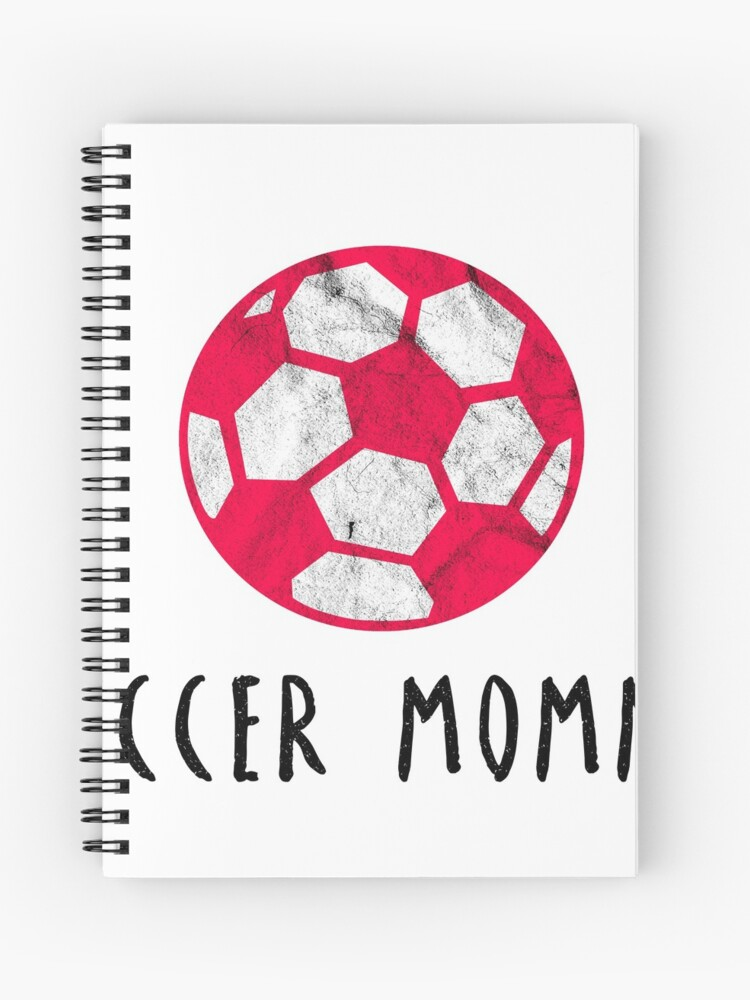 Soccer Womens Football Mothers Day Gift Idea Spiral Notebook