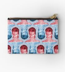 Red & Blue David Bowie by Cupcakes and Chopsticks Studio Pouch
