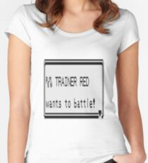 Red wants to battle Women's Fitted Scoop T-Shirt