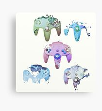 artsy game controllers Canvas Print