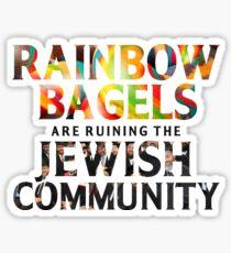 Rainbow Bagel Sticker Sticker