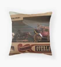 """Stagecoach"" Throw Pillow"