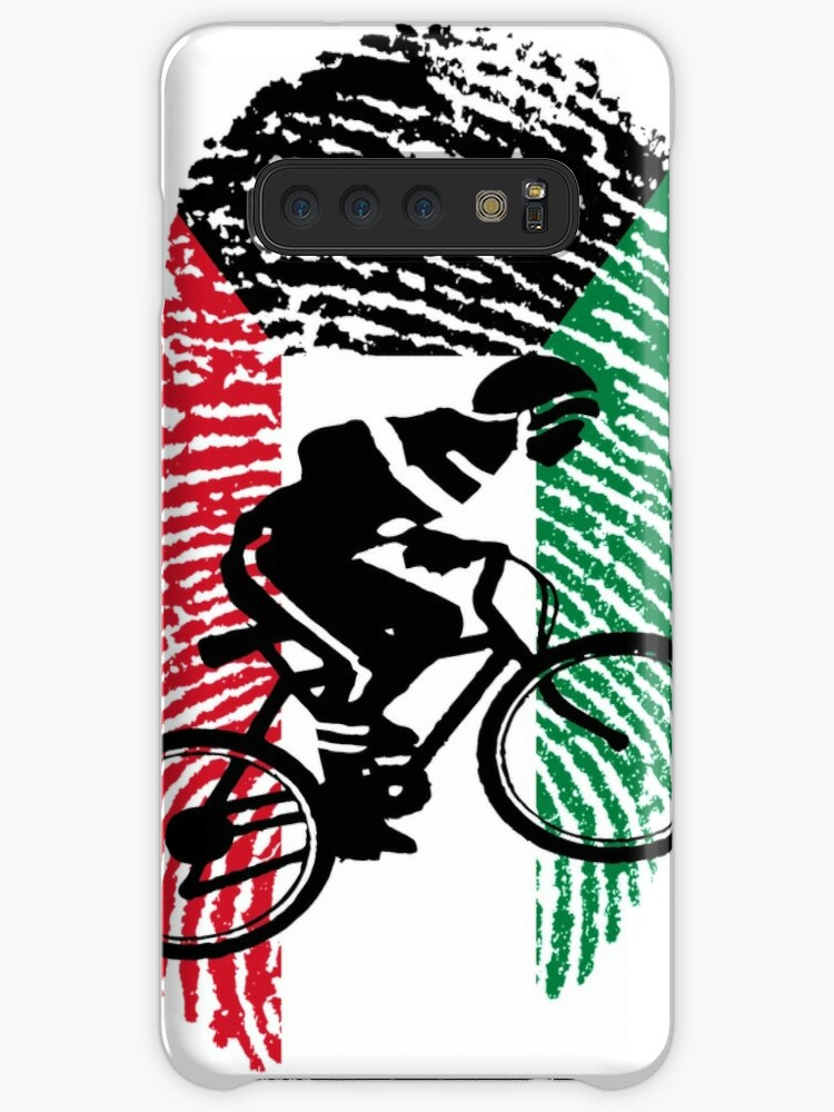 'Cycling It's In My DNA Kuwait الكويت FingerPrint Of Kuwait Flag With Bike  For People Who Love Biking And Cycling' Case/Skin for Samsung Galaxy by