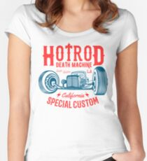 Hot Rod Death Machine Tailliertes Rundhals-Shirt