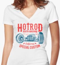 Hot Rod Death Machine Shirt mit V-Ausschnitt