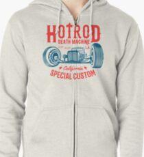 Hot Rod Death Machine Hoodie mit Reißverschluss