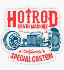 Hot Rod Death Machine Transparenter Sticker