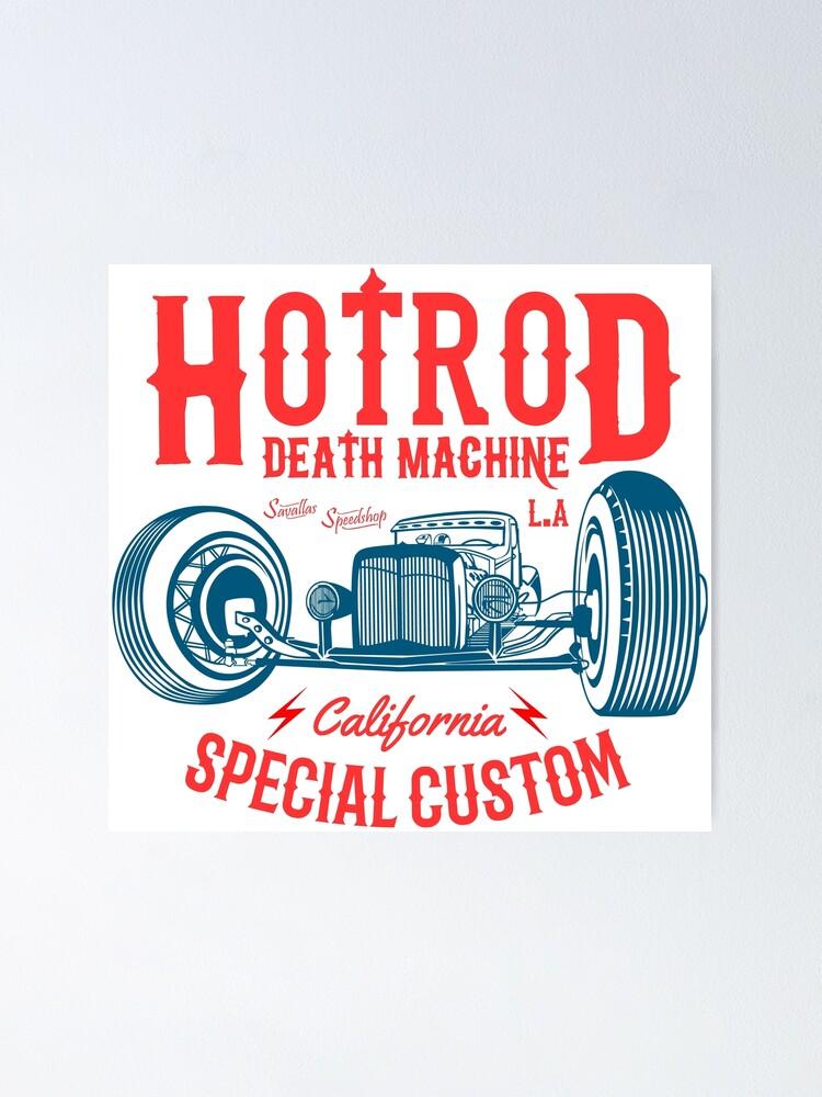 Alternative Ansicht von Hot Rod Death Machine Poster