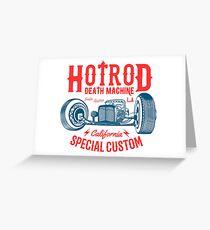 Hot Rod Death Machine Grußkarte