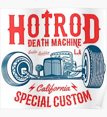 Hot Rod Death Machine Poster