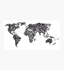 World Map in a parallel universe Photographic Print