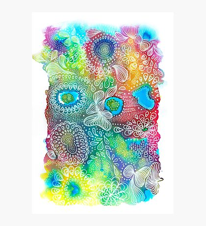 Water colors - Rainbow corals Impression photo