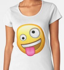 Crazy Face Emoji Women's Premium T-Shirt