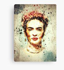 Frida Kahlo Watercolor  Canvas Print