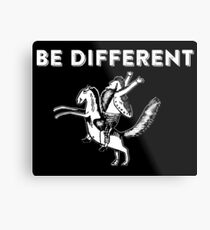Be Different - Vintage Artsy Hark a Vagrant Metal Print