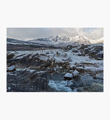 Bla Bheinn( Blaven) in Winter Photographic Print