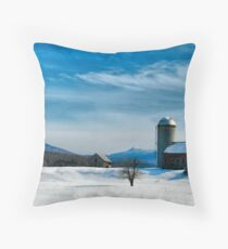 Winter With Jay Peak Throw Pillow