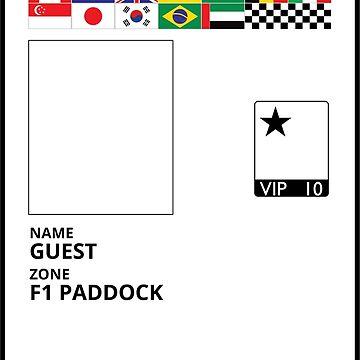 F1 Paddock Pass - Colour by flatspotapparel
