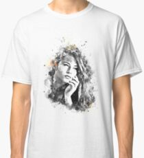 Beautiful woman face. Abstract fashion watercolor Classic T-Shirt