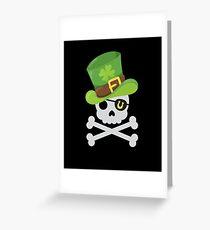 Irish Luck Pirate Greeting Card