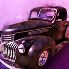 1942 Chevy Vent Window Pickup Watercolour Illustration Rare by ChasSinklier