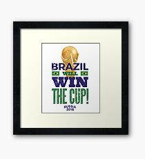 Brazil World The Cup 2018 Rusia Framed Print