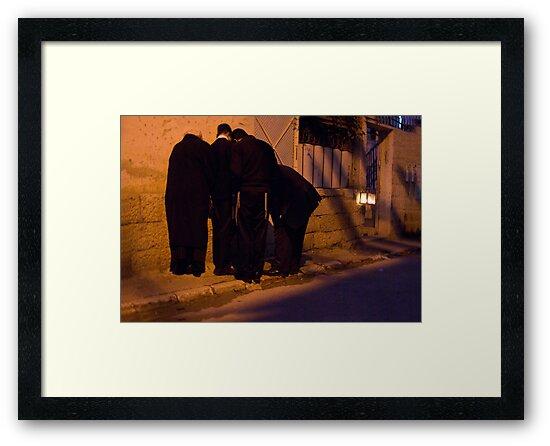 Kindling Hanukkkah candles by Moshe Cohen