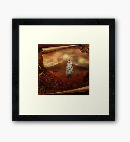 Ships in the Desert Framed Print