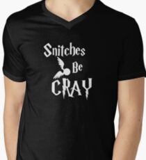 Snitches be cray - Golden Snitch Potter Men's V-Neck T-Shirt