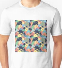 Easter Fun Bunnies And Eggs Pattern Unisex T-Shirt