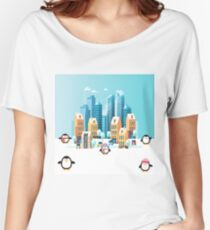 Penguin City Fun Time Women's Relaxed Fit T-Shirt