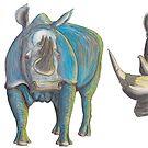 Mug of Rhinos Shroomy Big Blue Bosshog by AJLeibengeist