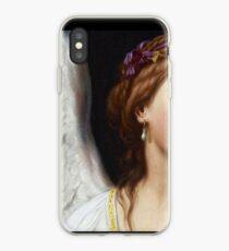 Der Engel mit der Perlenohrringnahaufnahme iPhone-Hülle & Cover